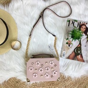 NWT ALDO Pink Flower Box Crossbody Purse